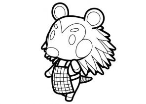 Animal Crossing Coloring Pages Coloring4free Com