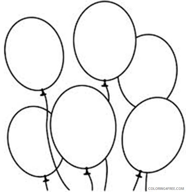Printable Balloon Coloring Pages For Kids Coloring4free Coloring4free Com