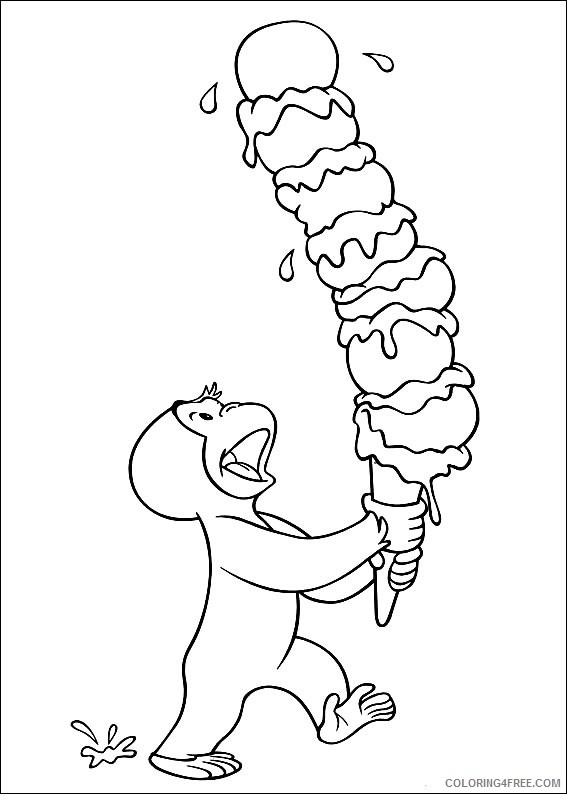 Curious George Coloring Pages Printable Coloring4free - Coloring4Free.com