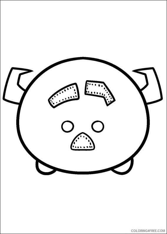 Disney Tsum Tsum Coloring Pages Printable Coloring4free Coloring4free Com