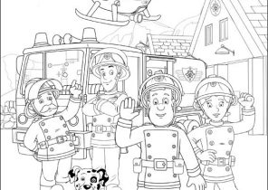 Fireman Sam Coloring Pages 30 | Fireman sam, Fireman sam birthday ... | 210x296