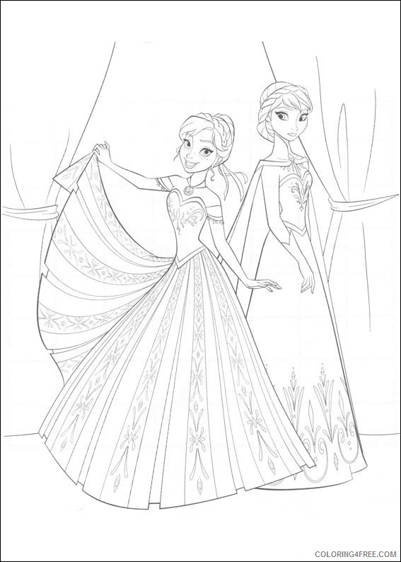 Frozen Coloring Pages Elsa And Anna Coloring4free - Coloring4Free.com