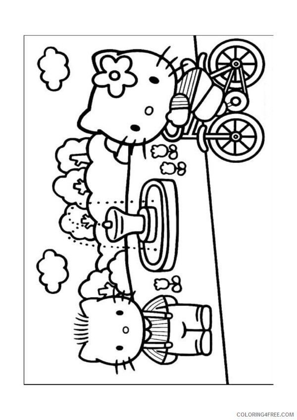 Hello Kitty Coloring Pages Ice Skating Coloring4free Coloring4free Com