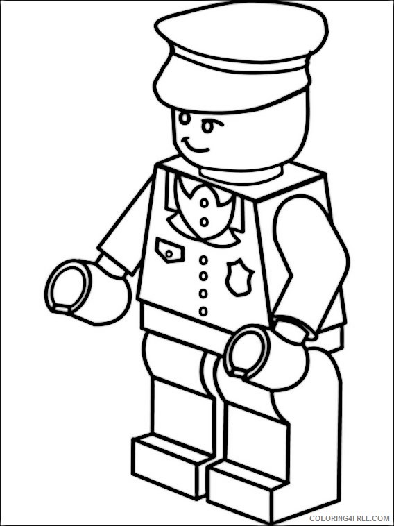 - Lego Police Coloring Pages Printable Coloring4free - Coloring4Free.com