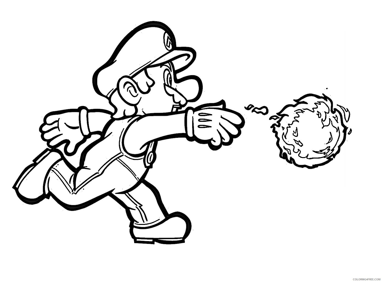 Printable Mario Coloring Pages For Kids Coloring4free Coloring4free Com