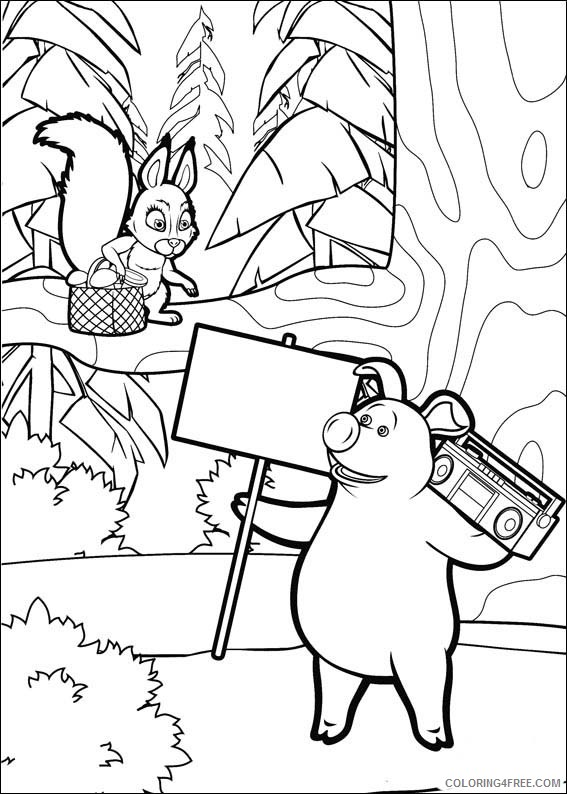 Masha And The Bear Coloring Pages Printable Coloring4free -  Coloring4Free.com
