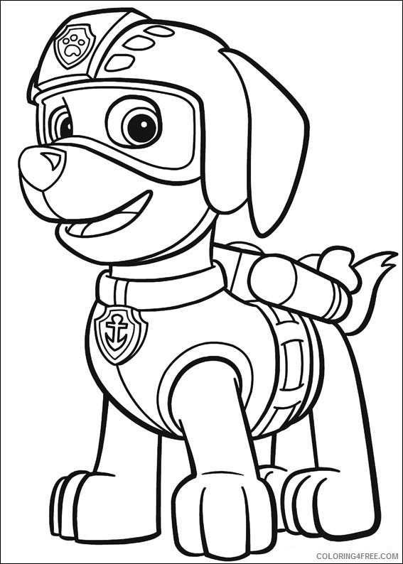- Paw Patrol Coloring Pages Zuma Coloring4free - Coloring4Free.com