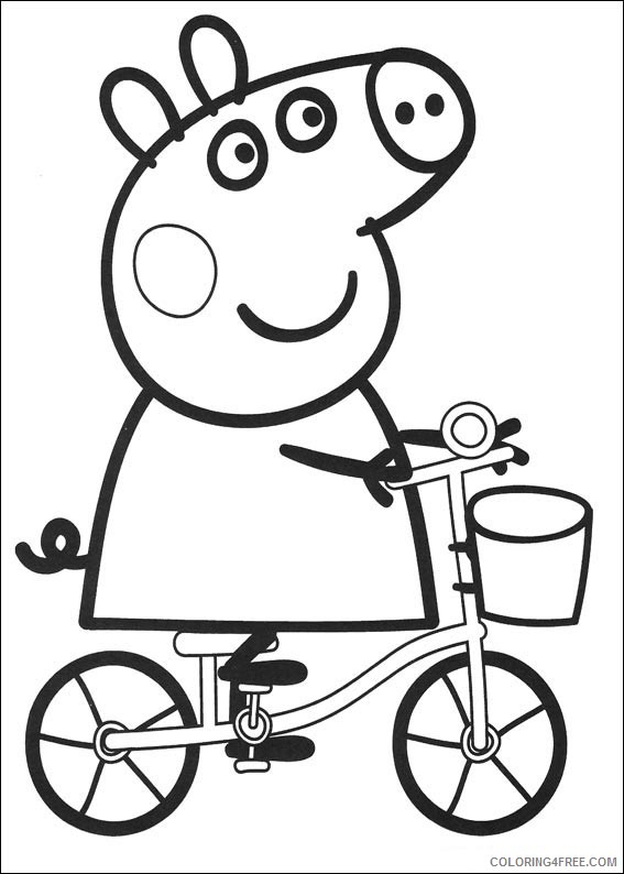 Peppa Pig & George Pig FREE printable coloring page | Peppa pig ... | 794x567