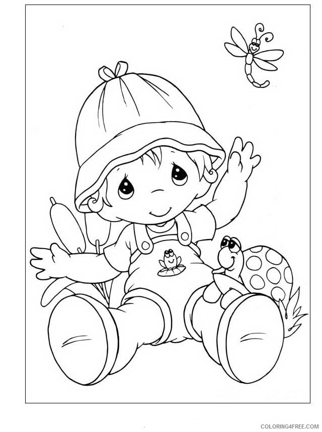 Precious Moments Coloring Pages Printable Coloring4free - Coloring4Free.com