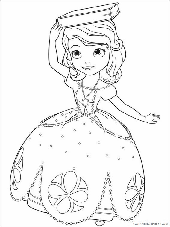 - Princess Sofia Coloring Pages Close Up Coloring4free - Coloring4Free.com