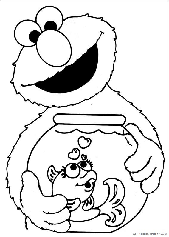 Sesame Street Coloring Pages Cookie Monster Christmas Coloring4free Coloring4free Com