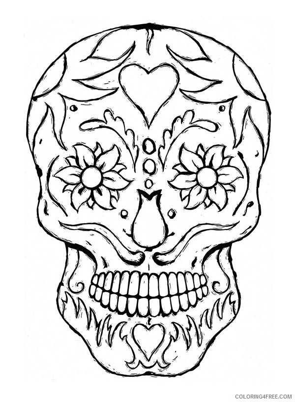 - Skull Coloring Pages Printable Coloring4free - Coloring4Free.com