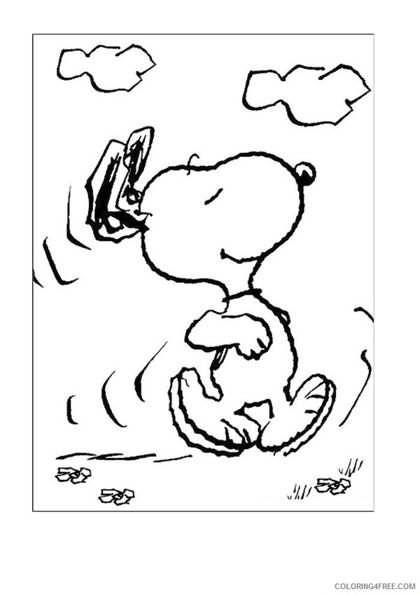 Snoopy Coloring Pages Cartoons Snoopy And Halloween Pumpkin Printable 2020 5651 Coloring4free Coloring4free Com