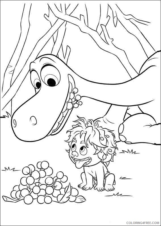 Print out the good dinosaur arlo and spot coloring pages ... | 794x567