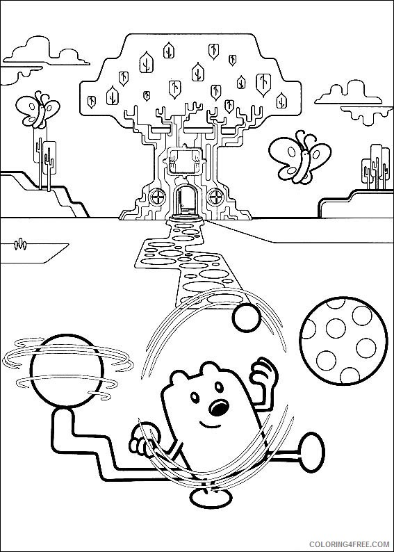 Wow Wow Wubbzy coloring pages on Coloring-Book.info | 794x567