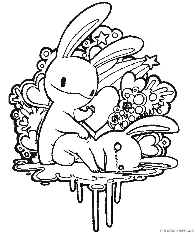 Abstract Love Coloring Pages For Adults Coloring4free - Coloring4Free.com
