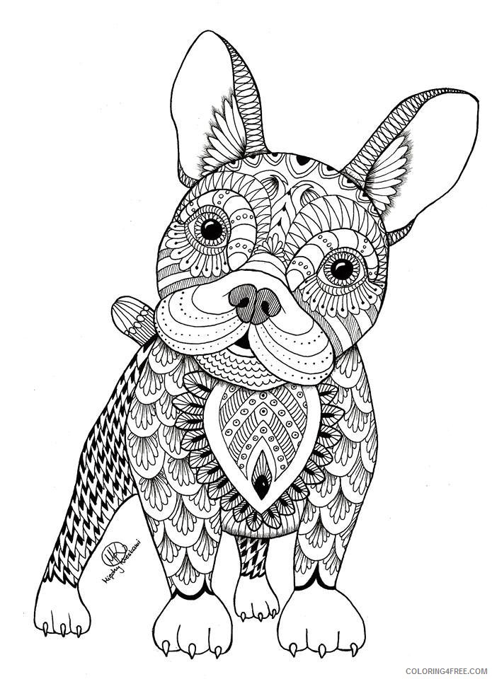 Adult Coloring Pages Puppy Cute Coloring4free - Coloring4Free.com