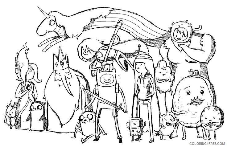 Adventure time coloring pages lady rainicorn voice   477x736