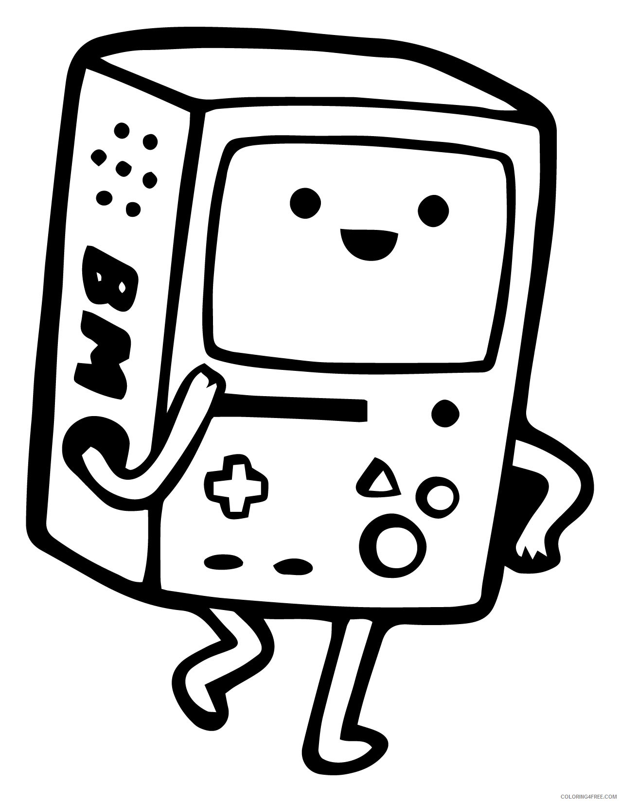 Adventure Time Printable Coloring Pages - Coloring Home | 1650x1275