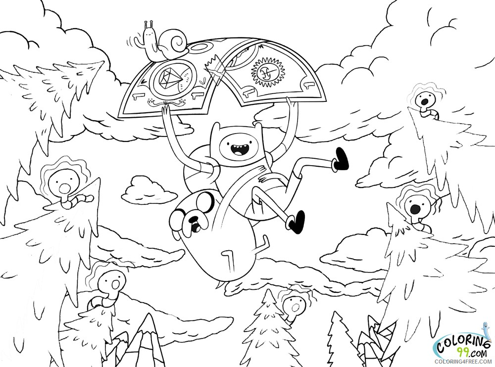 Adventure Time Coloring Pages Cartoon Network Coloring4free -  Coloring4Free.com