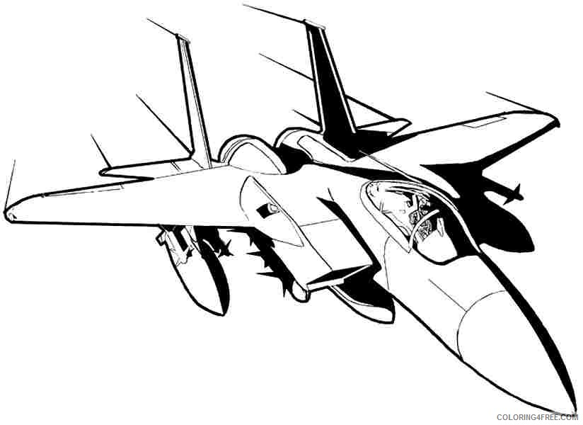 Airplane Coloring Pages Cool Fighter Jet Coloring4free Coloring4free Com