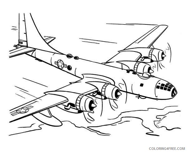 Printable fighter plane coloring page. Free PDF download at http ... | 490x600