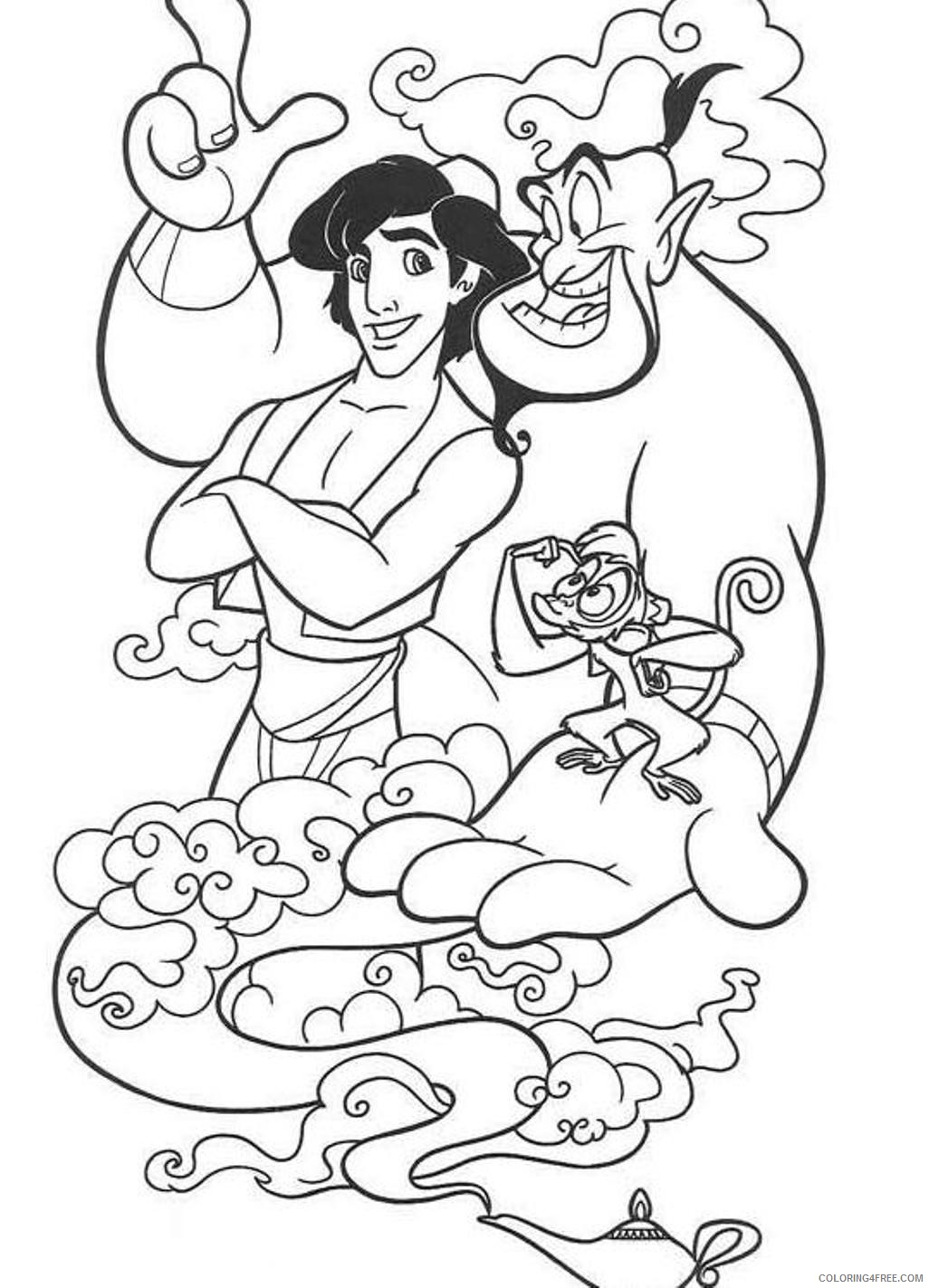9 Free Printable New Aladdin Movie Coloring Pages - 1NZA | 1423x1026