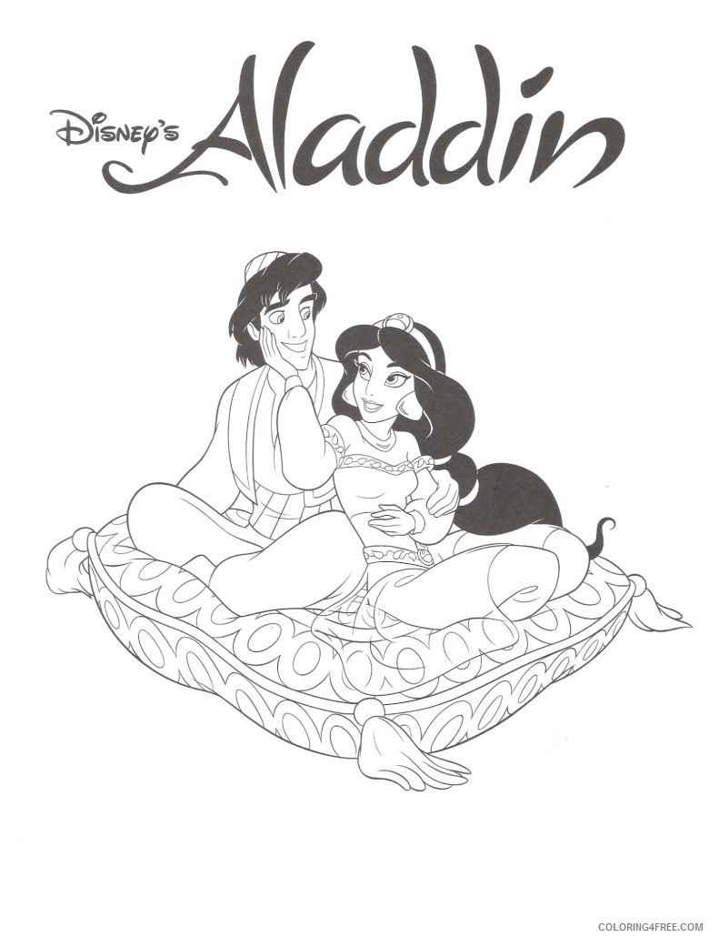 aladdin coloring pages disney Coloring4free - Coloring4Free.com