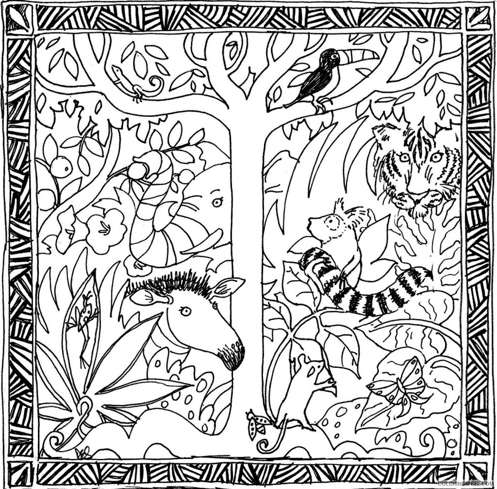 - Amazon Rainforest Coloring Pages Free To Print Coloring4free