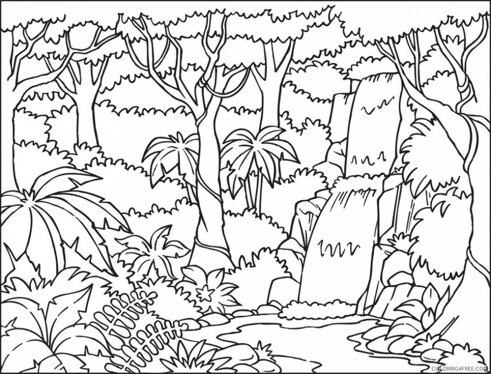 Safari and Jungle Animals Coloring Pages for Kids - Itsy Bitsy Fun | 766x1007