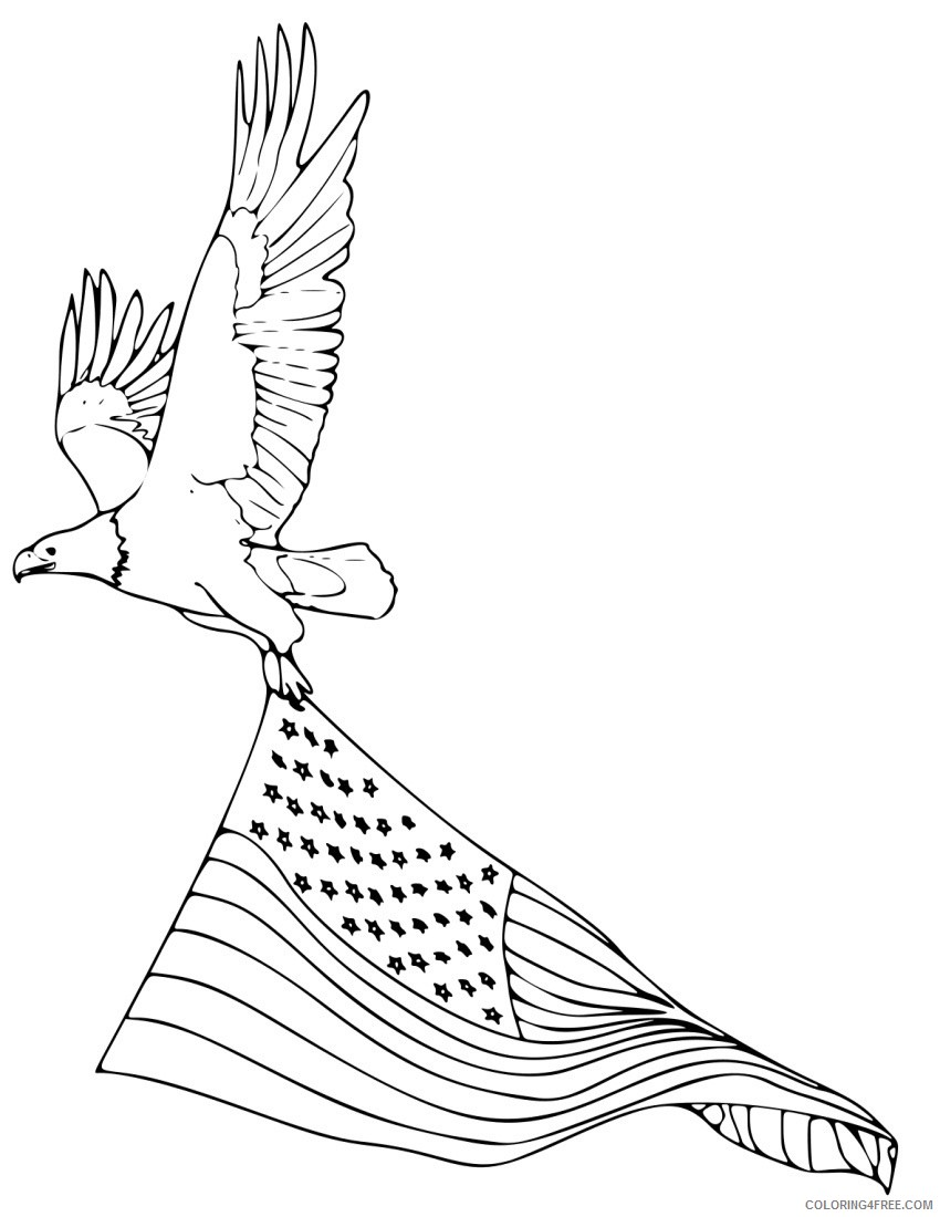 - American Bald Eagle Coloring Pages Coloring4free - Coloring4Free.com