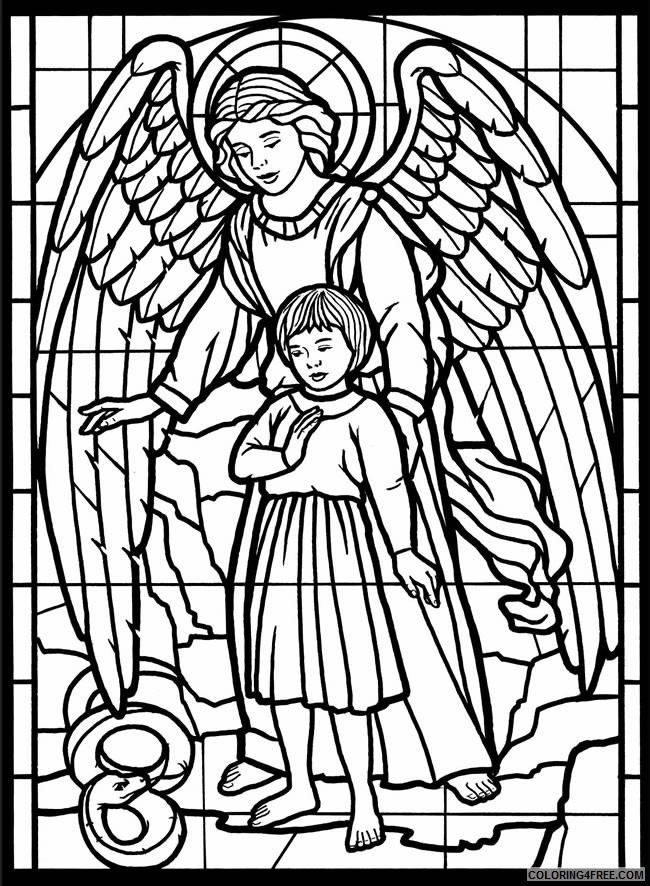 Stained Glass Coloring Pages for Adults - Best Coloring Pages For Kids | 886x650