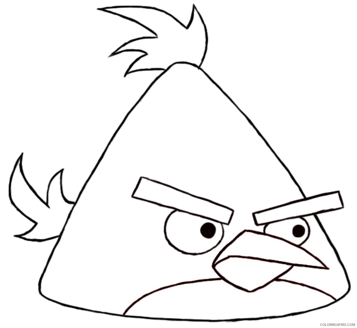 Angry Birds Coloring Pages Chuck Yellow