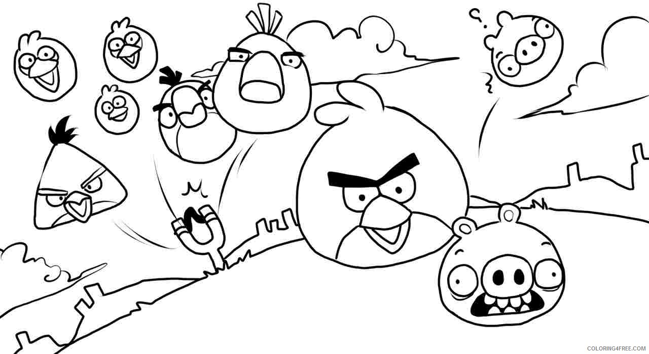 This is a picture of Angry Bird Printable Coloring Pages intended for angry birds 2