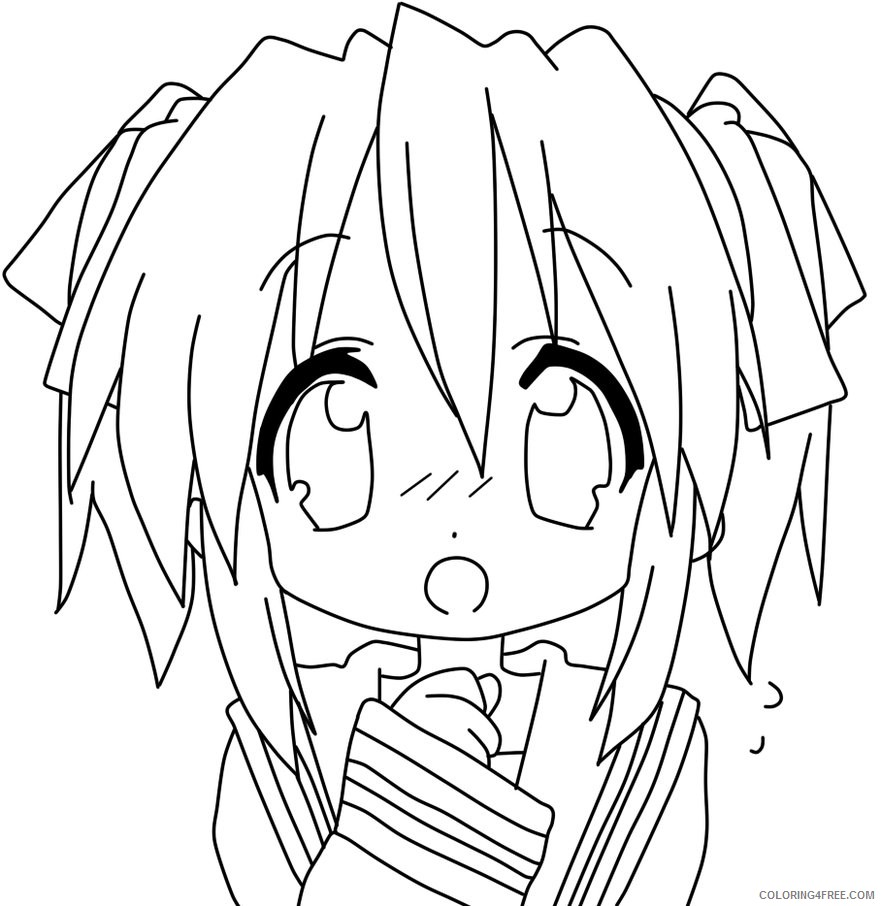 anime coloring pages chibi Coloring4free - Coloring4Free.com