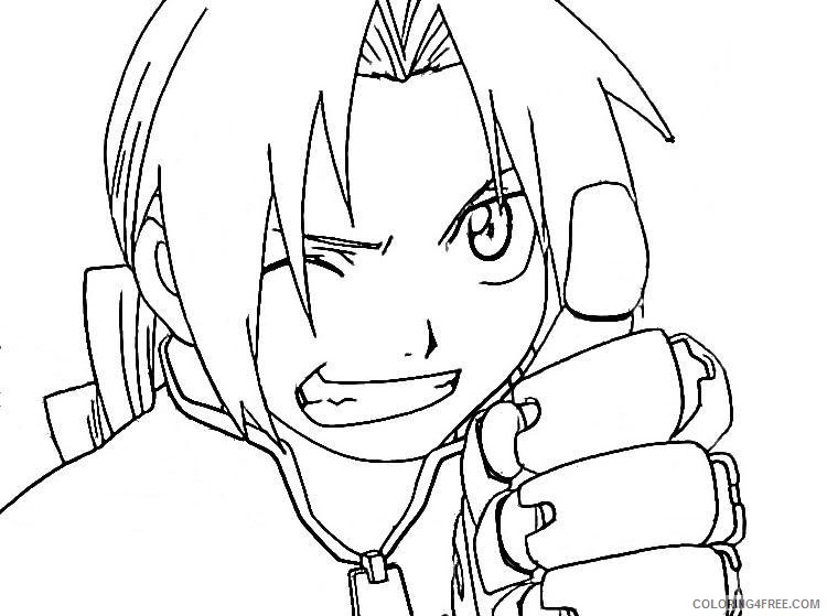 Anime Coloring Pages Close Up Coloring4free Coloring4free Com
