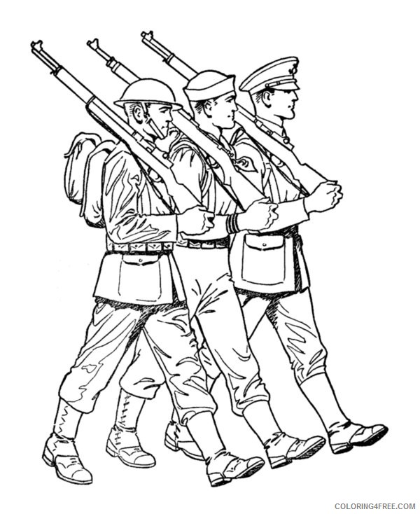 Soldier with M16 coloring page | Free Printable Coloring Pages | 734x600