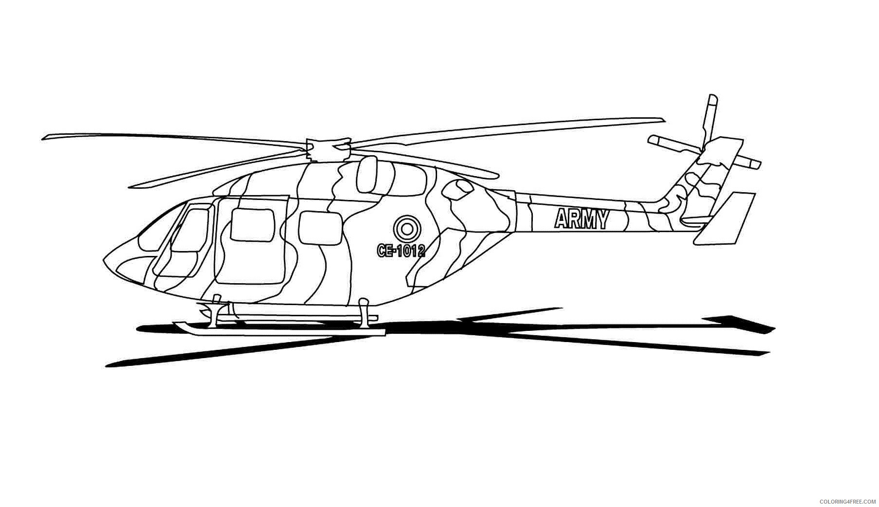 Army Helicopter Coloring Pages Printable Coloring4free