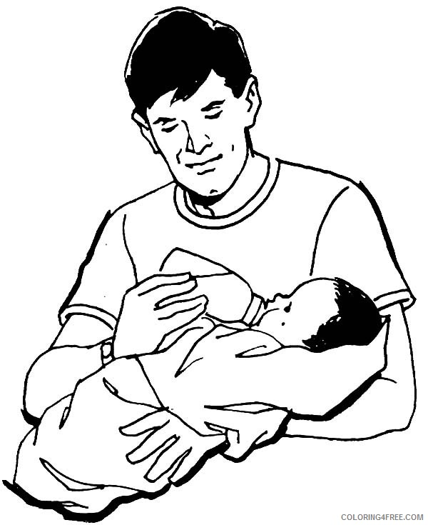 Baby Coloring Pages With Mom And Dad Coloring4free Coloring4free Com