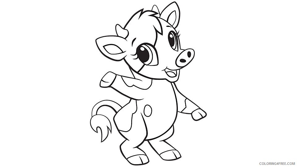 Coloring Pages Cow For Kids Summer Cows – codegur.club | 540x960