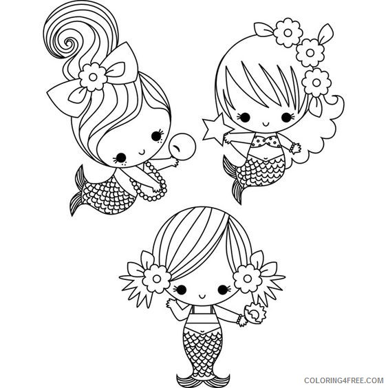 Baby Mermaid Coloring Pages For Kids Coloring4free Coloring4free Com