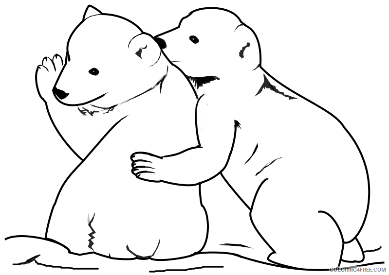 - Baby Polar Bear Coloring Pages Coloring4free - Coloring4Free.com