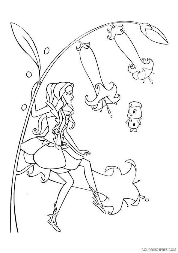 Barbie Coloring Pages Fairytopia Coloring4free - Coloring4Free.com