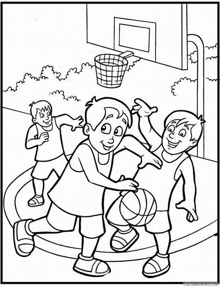- Basketball Coloring Pages For Kids Coloring4free - Coloring4Free.com