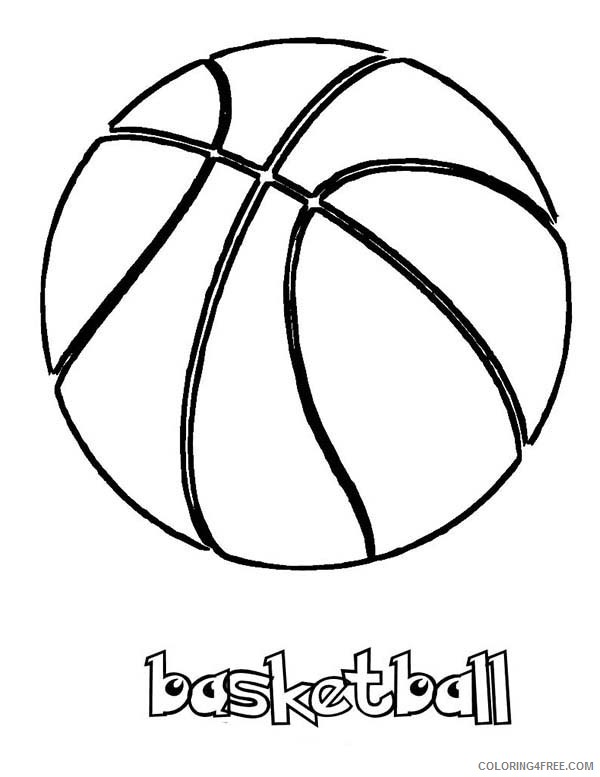 Printable Basketball Coloring Pages For Kids Coloring4free Coloring4free Com