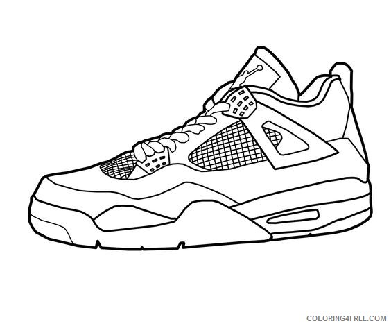 Basketball Shoes Coloring Pages - GetColoringPages.com | 470x564