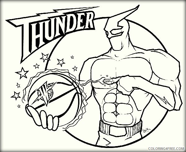 Basketball Coloring Pages Team Logo Coloring4free Coloring4free Com