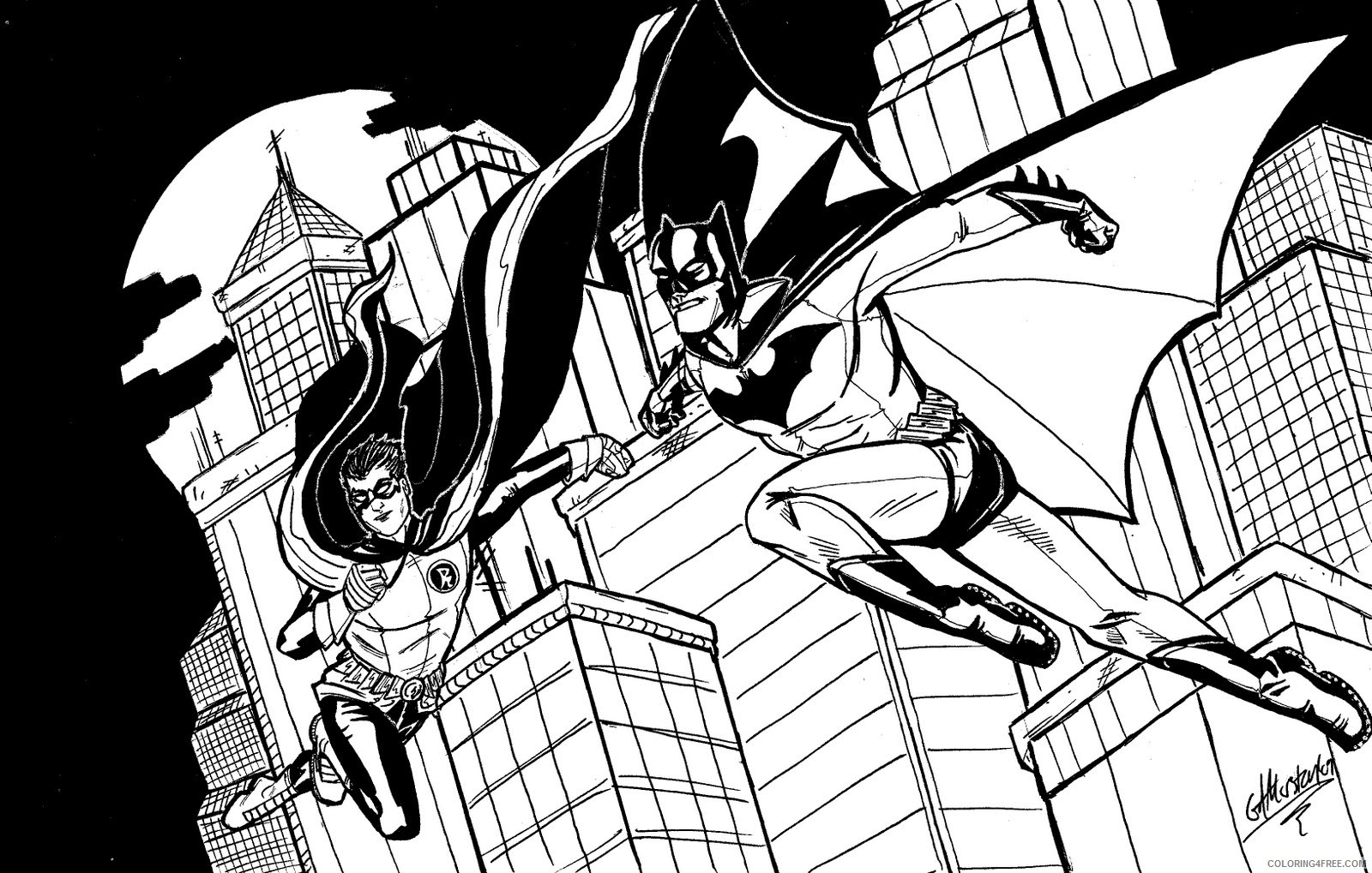 Batman Coloring Pages – 35 Free Printable For Kids | 1019x1600