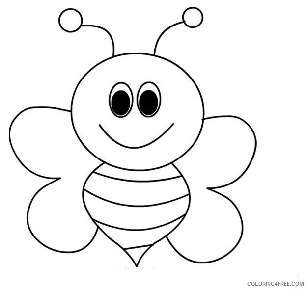 Bee Coloring Pages For Preschool Coloring4free Coloring4free Com