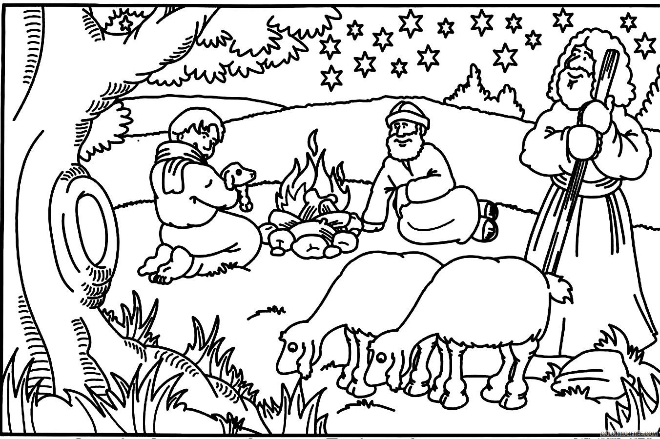 Bible Coloring Pages For Kids Coloring4free - Coloring4Free.com